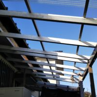 ガレージの屋根修理